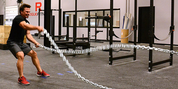 Rope training with chains? That's nuts!