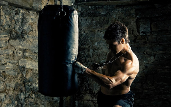 punch a bag for home cardio
