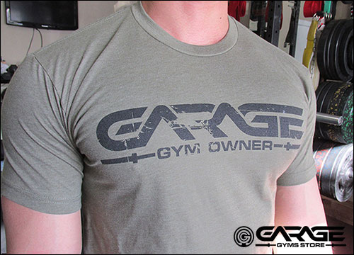 Proudly represent your garage gym while supporting future equipment reviews on garage-gyms.com