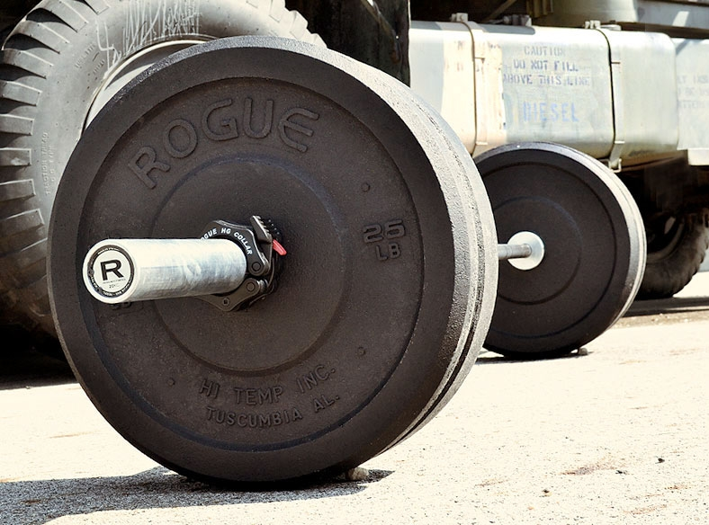 consider hi-temp bumpers when building a garage gym