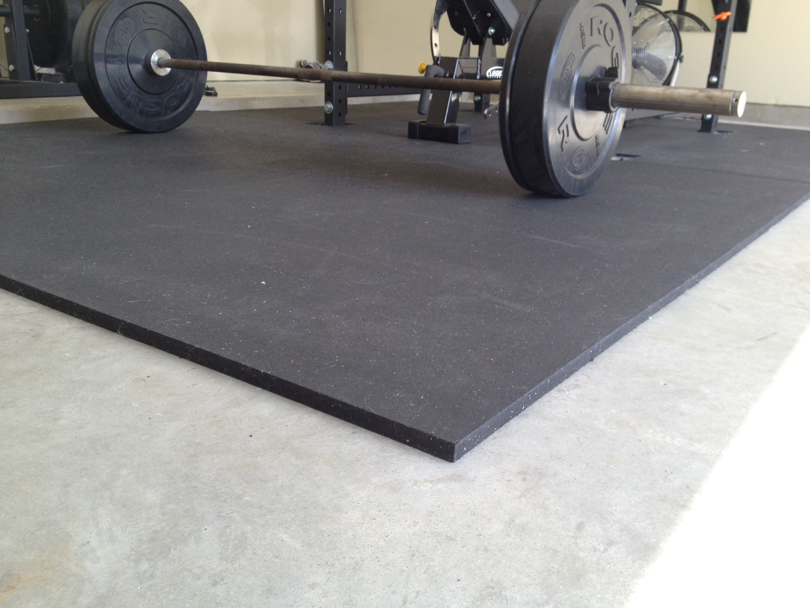 Rubber floor mats workout -
