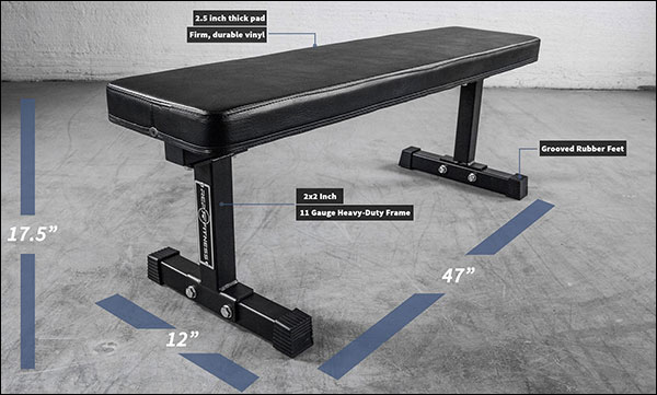 Rep Fitness - Flat Utility Bench rated to 1000-pounds