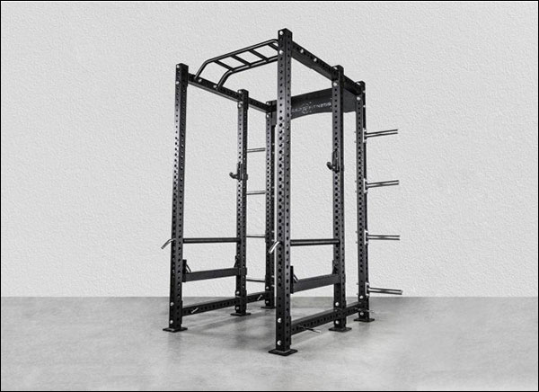 Rep Fitness PR-5000 Power Rack with plate storage and multi-grip pull-up