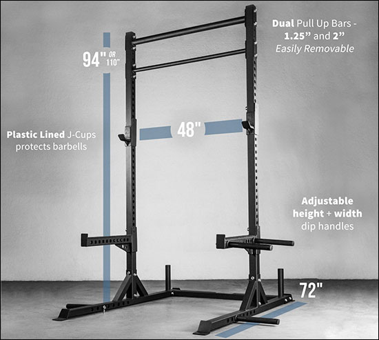 Rep Fitness SR-4000 Squat Stand with Pull-up Bar