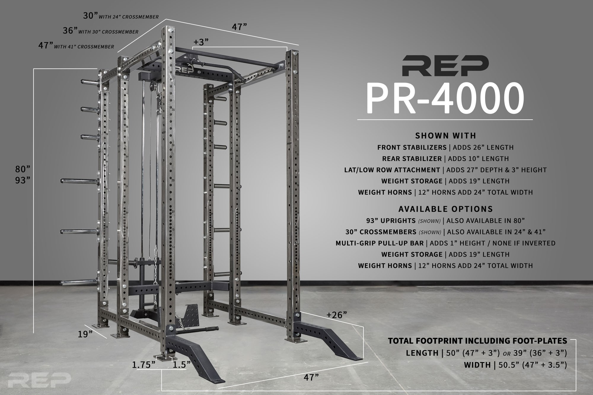 Rep Fitness PR-4000 Power Rack