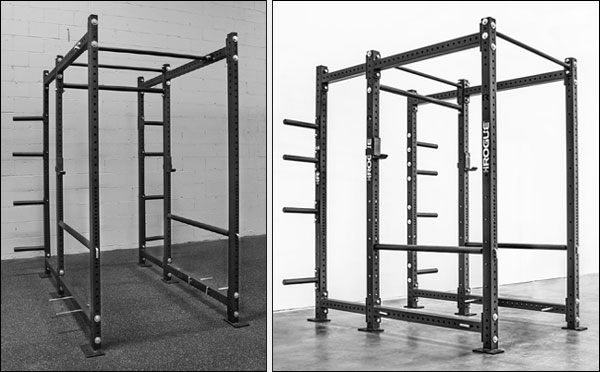 The Rogue Classic R6 Power Rack and RML-690 Power Rack