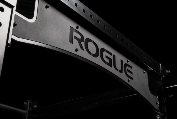 Rogue Nameplate on the RML-490C Power Rack 3.0