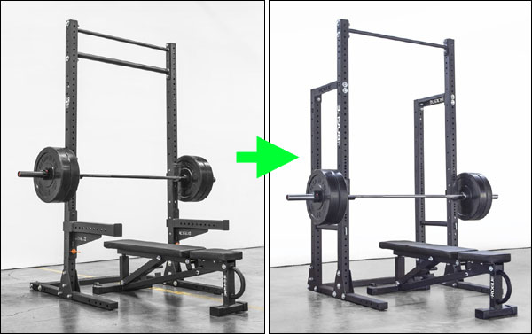 The Rogue SML2 Squat Stand and HR2 Half Rack