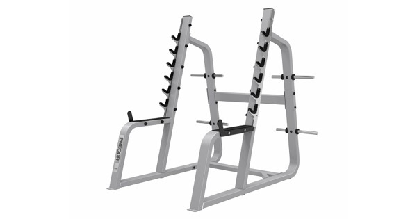 I suggest avoiding squat racks. A power rack is a much better purchase in so many ways