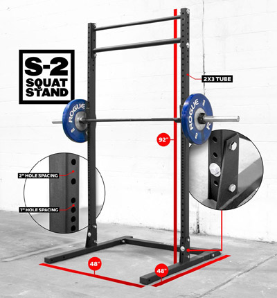 The Rogue S-2 Squat Stand
