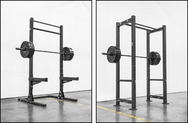 Footprint and price difference between a squat rack and smaller power rack