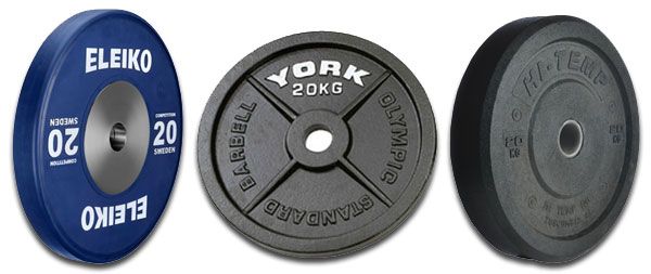 Comparison of rubber bumper plates vs steel plates