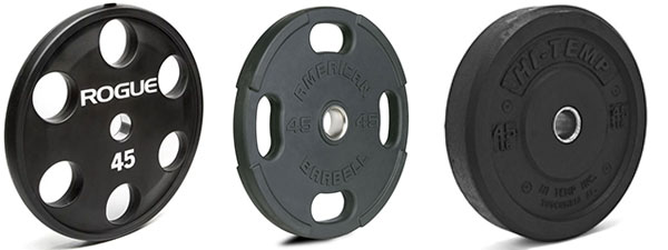 Urethane and rubber coated weights vs standard bumper plates
