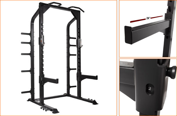 XMark Commercial Half Rack - loaded with features
