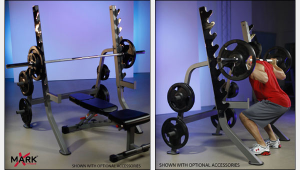 X-Mark Multi-Press Squat Stand with Plate Storage