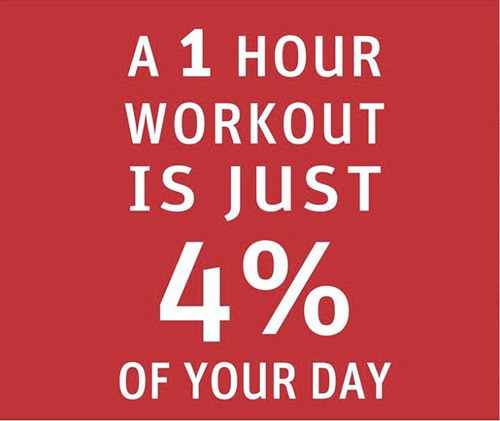 1 hour = 4%... ridiculously easy, yea? #getitdone #train!