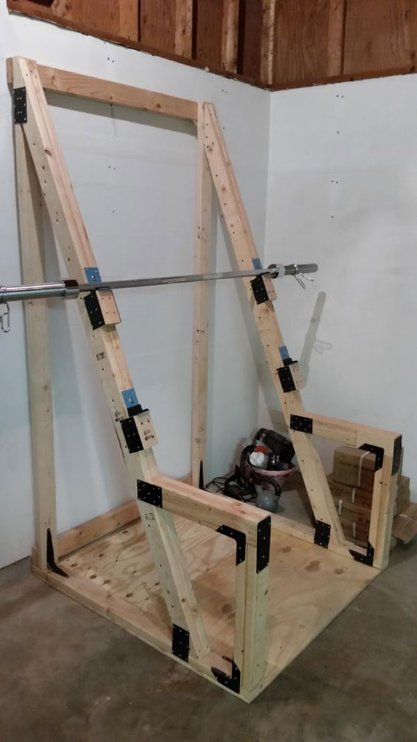 DIY Custom squat rack /squat stand for an economical garage gym