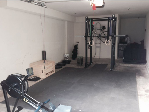 Great single car garage gym