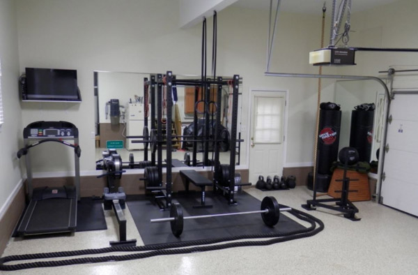 Very badass garage gym