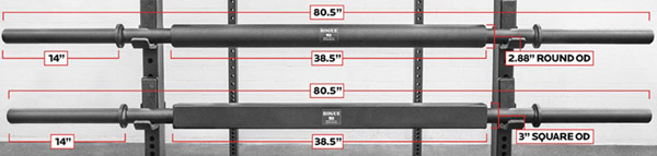 the branch and beam rogue specialty weightlifting bars