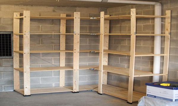 Build some shelves to help organize your garage