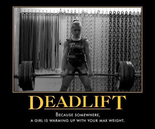 Let the inspiration wash over you #deadlift #girl