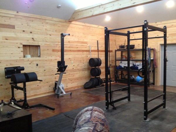 This is probably not a garage gym, but it's very cool