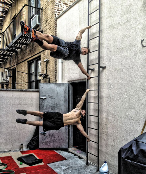 Easy things that Crossfitters do #human flag #strength