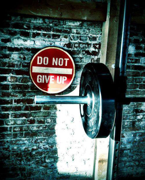 Never Give Up - Garage gym motivational image gallery #gallery #inspire #nevergiveup