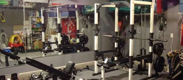 Garage gym organization maximizing the limited space