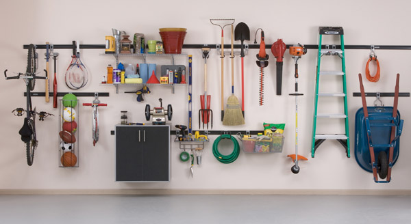 Organize Your Wall With Track Hooks Like The Rubbermaid Fasttrack