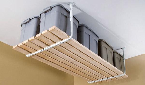 Overhead Storage for Garage Gym Organization