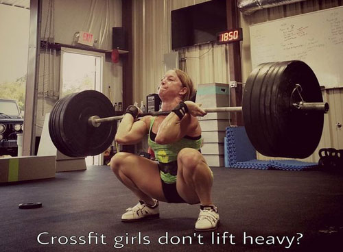 Crossfit girls don't lift heavy? BS #frontsquat #max out #squat day