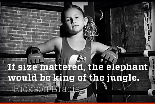 If size mattered, the elephant would be king of the jungle - fitness motivation #gymblr #start young