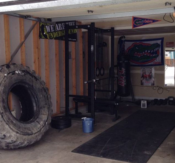 That is a massive tire. I'd probably store that outside, but whatever