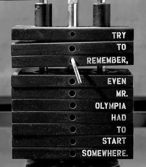 Weight training motivation even Mr Olympia can agree with. Stay positive, keep lifting