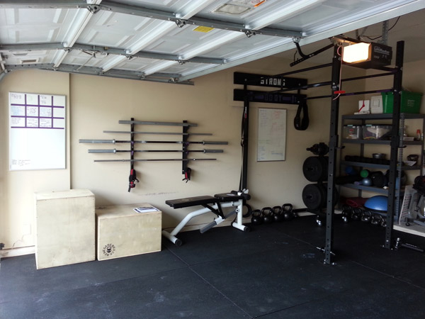 Sweet bar rack, bra. I kid, nice garage gym