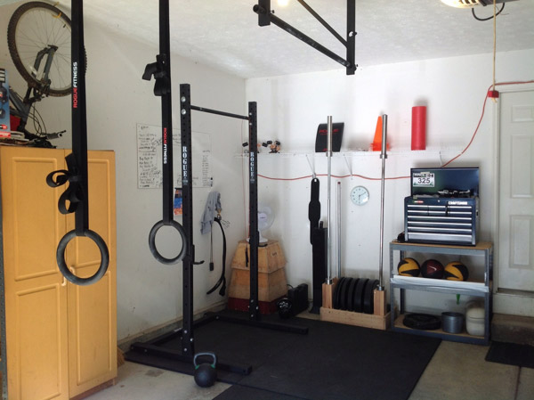 Nice and organized use of limited space in this garage - very clean