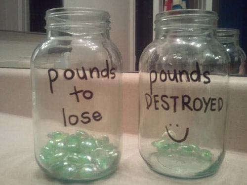 Nice idea - pounds to lose and pounds lost #weightloss #tips