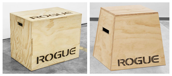 Rogue has a huge selection of plyo and squat boxes if you're not into DIY
