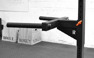 R-4 Power Rack Review - Rogue Matador dip Station for 2x3 power racks