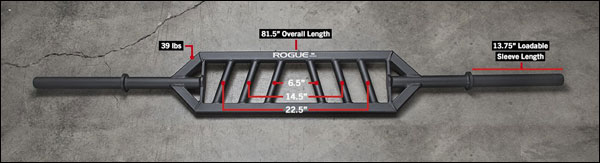 The Rogue MG-23 multi-grip specialty bar