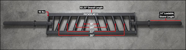 The Rogue MG-24 multi-grip specialty bar