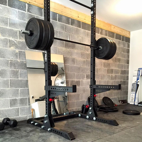 Super intense Rogue Monster Squat Stand home/garage gym. Beast of a unit!