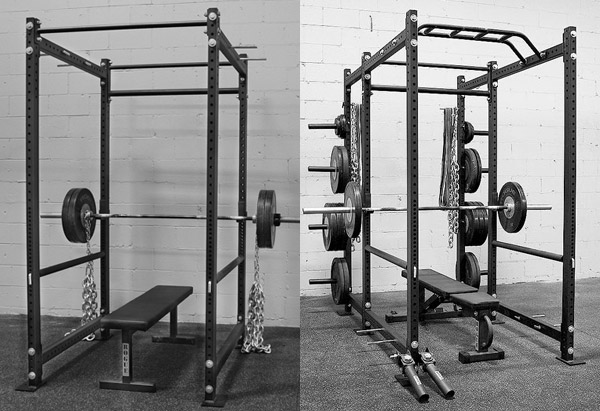 Power rack review - Side by side comparison of the Rogue R-4 and R-6