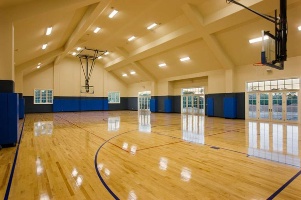 So even though this isn't a gym gym, it's still a gymnasium and ya, it's someones home