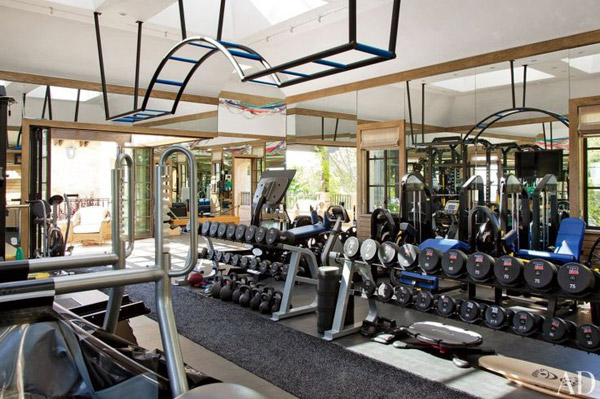 Tom Brady's super sweet personal gym