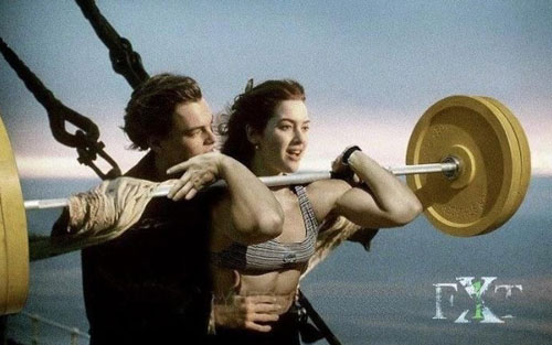 Nice photoshopping. Clean often enough and you will be on top of the world #TItanic #Leo #cleanandjerk