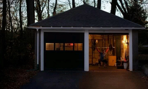Nice unattached garage gym