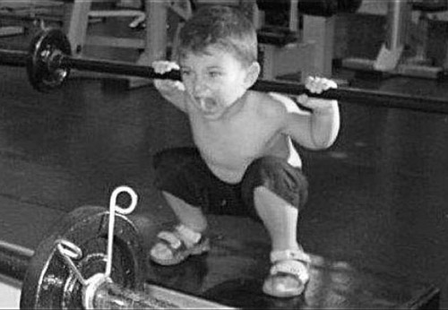 You get you some, little man. What good parents #fitkids #startearly